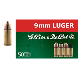 Náboje Sellier&Bellot 9mm Luger, SP 8g