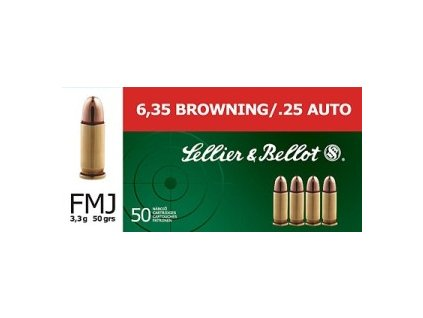 Náboje Sellier & Bellot cal. 6,35 Browning 3,3g